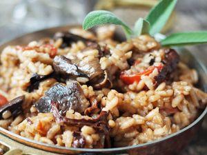 pilz risotto mit brunnenkresse salat rezept eat smarter. Black Bedroom Furniture Sets. Home Design Ideas