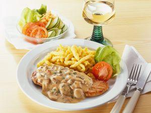 Pilzrahm-Schnitzel Rezept