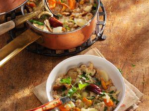Pilzrisotto mit Lauch und Möhren Rezept
