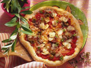 Pizza capricciosa Rezept