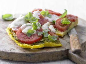 Polenta-Pizza mit Tomaten Rezept