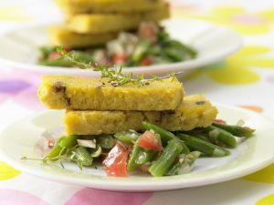 Polenta mit Steinpilzen, Bohnen und Tomaten Rezept