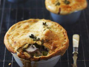 Porree-Hähnchen-Küchlein auf englische Art (Pie) Rezept