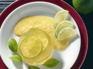 Prosecco-Gelee mit Sauce Rezept