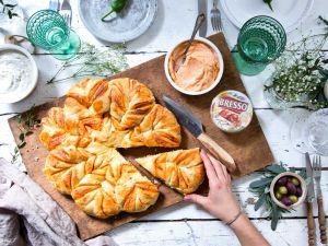 Provençalische Brotblume mit BRESSO Gegrillte Paprika Rezept