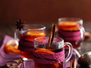 Punsch mit Orange und Zimtstange Rezept