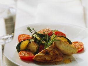 Pute mit Gemüse Rezept