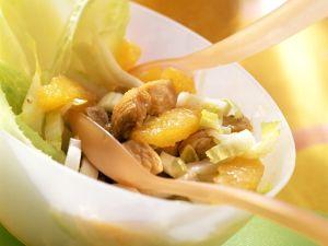 Puten-Chicoreesalat mit Orangen Rezept