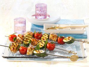 Puten-Gemüse-Spieße Rezept
