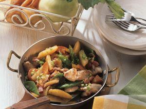 Puten-Gemüsepfanne Rezept