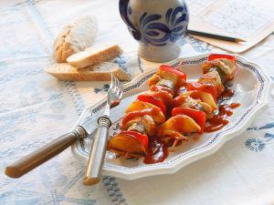 Puten-Gemüsespieße Rezept