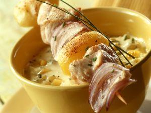 Puten-Kartoffel-Spieß mit Mangocreme Rezept