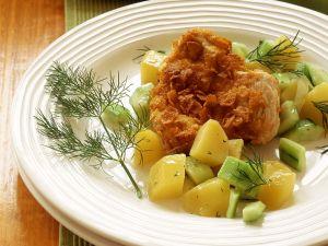 Putenschnitzel mit Kartoffelgemüse Rezept