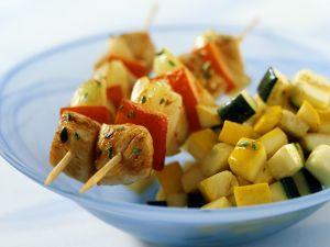 Putenspieße mit Gemüse Rezept