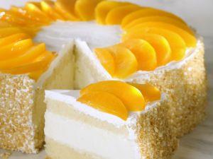 Quark-Pfirsich-Torte Rezept