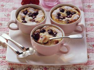Quark-Reis-Gratin mit Kirschen Rezept