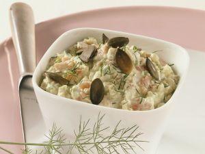 Quarkcreme mit Avocado und Lachs Rezept