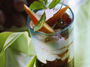 Quarkcreme mit Trauben Rezept