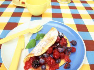 Quarkpfannkuchen mit Beeren Rezept