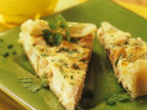 Quiche mit Lachs und Kräutern Rezept