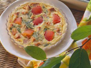 Quiche mit Wurst und Tomaten Rezept