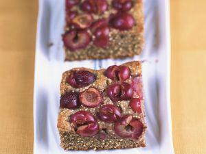 Quinoa-Kuchen mit Kirschen Rezept