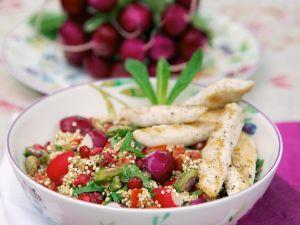 Quinoa-Radieschen-Salat mit Hähnchen Rezept