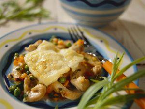 Raclette mit Hähnchen und Gemüse Rezept