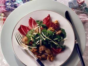 Radicchio-Brunnenkresse-Salat Rezept