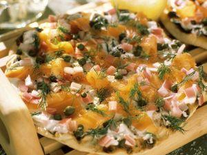 Räucherlachs-Pizza Rezept
