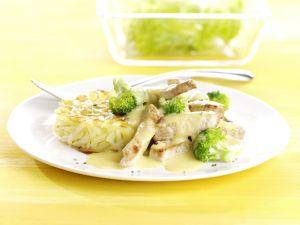 Rahm-Geschnetzeltes mit Brokkoli Rezept