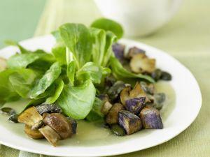Rapunzel mit getrüffelten Kartoffeln und Pilzen Rezept
