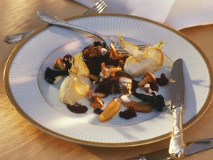 Reh mit Püree und Pilzen Rezept