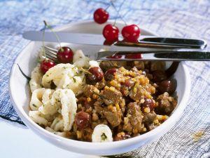 Rehragout mit Gemüse und Kirschen Rezept