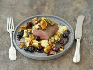 rehr cken in madeirasauce und parmesan polenta rezept eat smarter. Black Bedroom Furniture Sets. Home Design Ideas