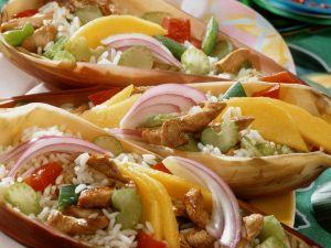 Reis-Hähnchen-Salat auf karibische Art Rezept
