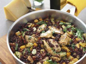 Reis-Hähnchenpfanne Rezept