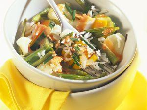Reis mit Gemüse aus dem Römertopf Rezept