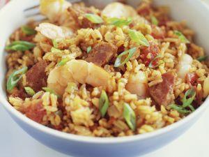 Reispfanne auf kreolische Art (Jambalaya) Rezept