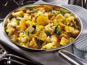 Reispfanne mit Gemüse und Tofu Rezept