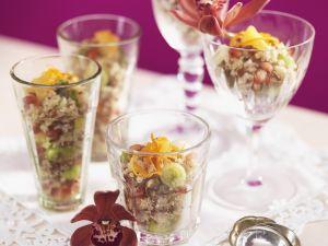 Reissalat auf orientalische Art mit Pistazien Rezept