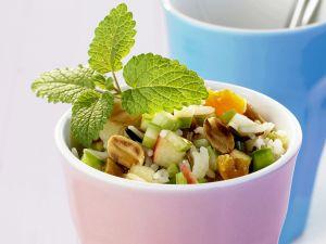 Reissalat mit Trocken-Aprikosen Rezept