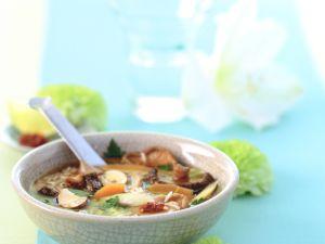 Reissuppe mit Pilzen Rezept