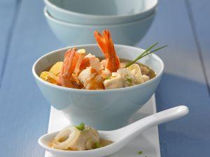 Reissuppe mit Shrimps Rezept