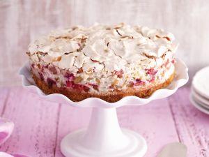 Rhabarberkuchen mit Mandel-Baiser Rezept