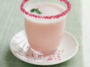 Rhabarbersmoothie mit Rosenwasser Rezept