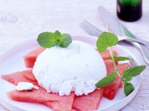 Ricotta-Creme mit Melone Rezept