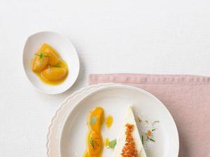 Ricotta-Eistorte mit Aprikosensauce Rezept