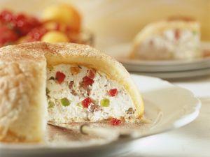 Ricotta-Frucht-Kuchen mit Biskuit Rezept