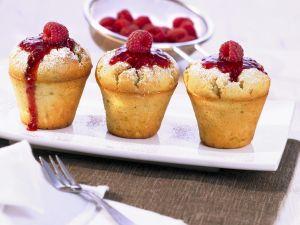 Ricotta-Muffins mit Himbeeren Rezept